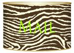 L1448 - Brown & Creme Zebra Letter Box