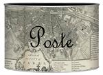 L1481 - Antique Paris Map Letter Box