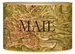 L1482 - Antique Rome Map Letter Box