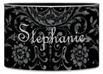 L1532 - Black and Silver Damask Letter Box