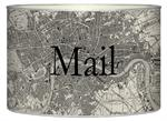 L1574 - Antique London Map Letter Box