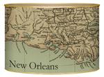 L1718-Lousiana Coast Antique Map Letter Box