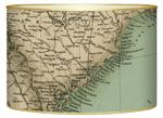 L1834 - South Carolina Coast Detail Antique Map Letter Box