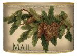 LB2609-Vintage Pine Cone Personalized Letterbox