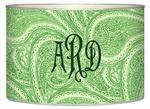 LB2635 - Creme And Green Paisley Letter Box