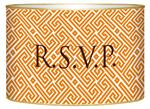 LB2658 - Orange & White Fret Monogrammed Letterbox