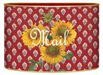 L400 - Sunflowers on Red Provencial Persoanlized Letter Box