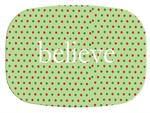 GB1238-Christmas Dots Personalized Glass Cutting Board