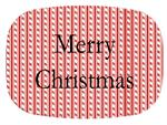 GB1239-Candy Cane Stripe Personalized Glass Cutting Board