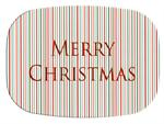 GB1242-Thin Christmas Stripe Personalized Glass Cutting Board