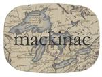 GB1455-Antique Great Lakes Map Personalized Glass Cutting Board