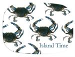 GB1517-Blue Crab  Personalized Glass Cutting Board