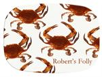 GB1518-Cooked Crabs  Personalized Glass Cutting Board