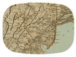 GB1536-Antique Jersey Shore Map  Personalized Glass Cutting Board