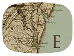 GB1550-Antique Chesapeake Map  Personalized Glass Cutting Board