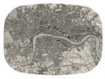GB1574-Antique London Map  Personalized Glass Cutting Board