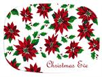 GB1594-Poinsettia  Personalized Glass Cutting Board