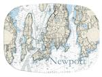 GB1709-Newport Nautical  Personalized Glass Cutting Board