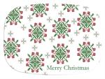 GB1710- Christmas Snowflake  Personalized Glass Cutting Board