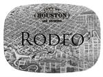 GB1757-Houston, Texas Antique Map  Personalized Glass Cutting Board