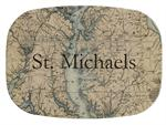 GB1783-Upper Chesapeake Bay & Maryland Antique Map  Personalized Glass Cutting Board