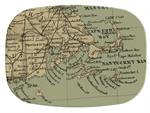 GB1820-Cape Cod & Surrounding Area Antique Map  Personalized Glass Cutting Board