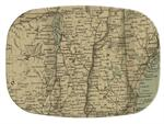 GB1823 - Vermont & New Hampshire Antique Map  Personalized Glass Cutting Board