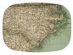 GB1835-North Carolina Coast Antique Detail Map  Personalized Glass Cutting Board