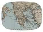 GB1876 - Greece Antique Map  Personalized Glass Cutting Board