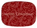 GB2419 - Red Scroll  Personalized Glass Cutting Board
