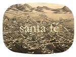 GB2476 - Santa Fe Map  Personalized Glass Cutting Board