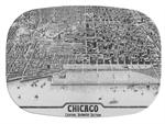 GB2478 - Chicago  Personalized Glass Cutting Board