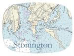 GB2520 - Stonington Nautical  Personalized Glass Cutting Board