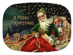 GB2535 - Santa's Sleigh  Personalized Glass Cutting Board