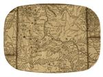 GB2545-Wyoming Antique Map  Personalized Glass Cutting Board