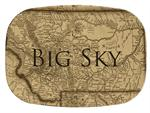 GB2551-Montana Antique Map  Personalized Glass Cutting Board