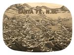 GB2596- Santa Fe Antique Map  Personalized Glass Cutting Board