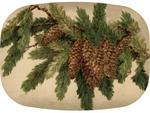 GB2609-Vintage Pine Cones  Personalized Glass Cutting Board