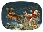 GB2611 - Santa and Reindeer  Personalized Glass Cutting Board