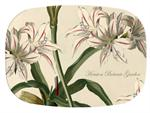GB2652 - Antique Lilies  Personalized Glass Cutting Board