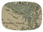 GB2672- Whidbey Island Antique Nautical Chart  Personalized Glass Cutting Board