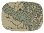 GB2756 - San Juan Islands Map  Personalized Glass Cutting Board