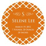 M2855-I - Chelsea Orange Personalized  Melamine Plate/ Platter with Inset