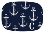 GB2977-Vintage Anchor Navy  Personalized Glass Cutting Board