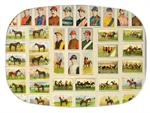 GB8589-Jockey and Racing Horses Melamine Platter