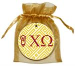 O2324 - Chi Omega Straw Fret Ornament