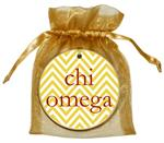 O2328 - Chi Omega Chevron Ornament
