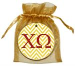 O2329 - Chi Omega Straw Chevron Ornament