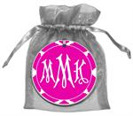 O2863 - Fuchsia Chelsea Grande Personalized Ornament