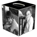 TB8110-Tissue Box Cover Silver  Trim From Your Photos or Artwork